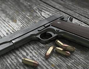Colt 1911 Low Poly PBR 3D asset VR / AR ready