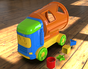 child 3D print Ready toy Mixer truck