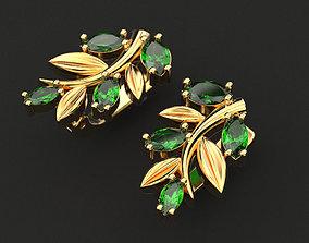 Earrings of a branch 3D print model