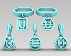 3D printable model Initial letter charm 7