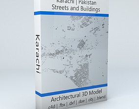3D model Karachi Streets and Buildings