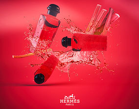 3D Hermes Cologne Bottles