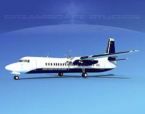 Fokker F-60 Corporate 3 3D model