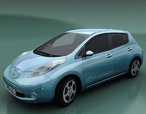 3D model Nissan Leaf stand