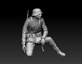 3D printable model German soldier antiaircraft