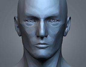 Male Portrait Statue 3D printable model