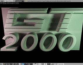 3D printable model nameplate GT2000