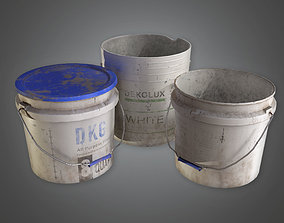 3D asset Old Buckets TLS - PBR Game Ready