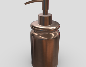 3D asset Soap Dispenser 4