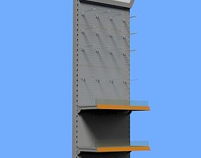 3D model Shelving system HIGH WALL UNIT perforated 665mm