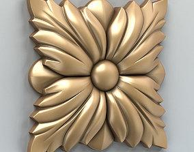 3D model Square rosette 004