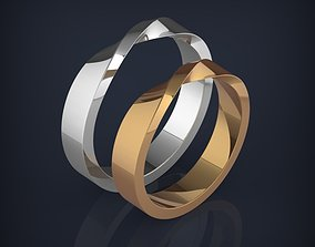 Wedding Mobius Rwisted rings 3D print jewelry models