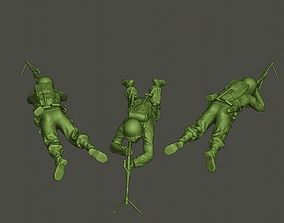 American soldier ww2 shoot lying down 3D printable model