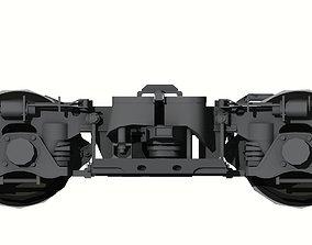 Japanese Train Bogey old model 3D