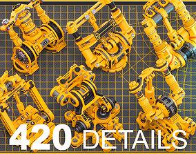 Sci-Fi Hard Surface Mechanical KITBASH 420 3D