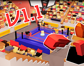 3D model Boxing Low poly pack for video games