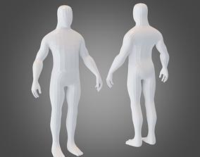 3D asset Base Mesh Human Male Body