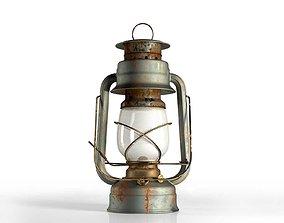 3D model old Vintage Oil Lamp