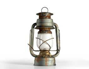 Vintage Oil Lamp 3D