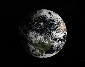 3D animated Planet Earth