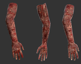 Arm Bloody Body Part Game Ready 3D model