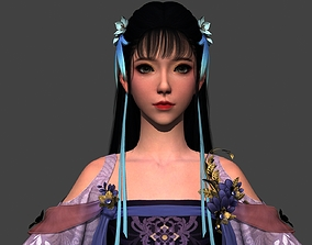 3D asset Ancient Chinese Beauty Ancient maid traditional 3