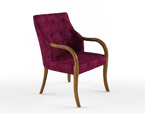 Quilted Chair - Classic sleeved 3D model