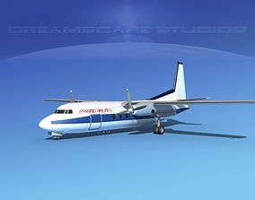3D model Fokker F-27 Pyramid Airlines