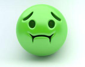 Emoji SICK 3D asset