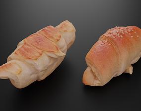 3D model Baked roll