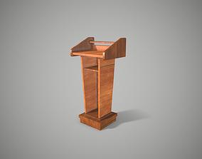 Rostrum Stand Podium Tribune 3D model