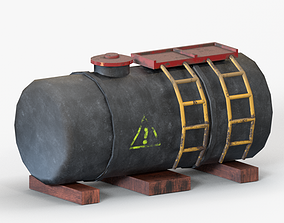 3D model realtime armoured Oil Tank