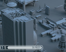 3D model Scifi dressing kitbash set 5