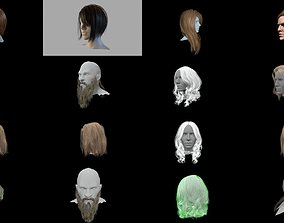 3D model Hair collections pack1