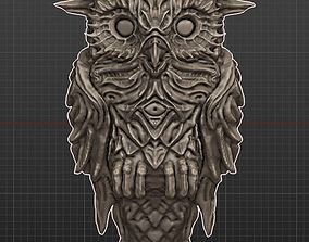 3D model Owl Stylized High Poly gothic
