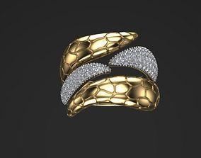 ring snake twins 3D print model