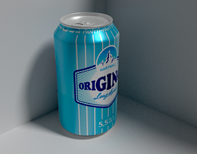 3D long drink can