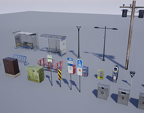 3D asset Street Prop Collection