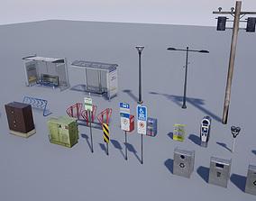 Street Prop Collection 3D asset