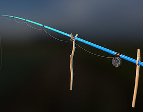 Fishing Rod 3D asset