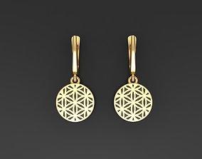 Flower of Life earrings 3D printable model