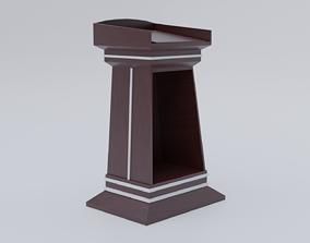 Wood Lectern 3D model