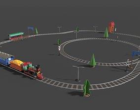 3D asset Toy Railway