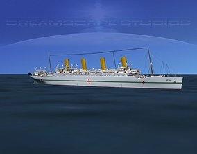 HMHS Britannic 3D model rigged
