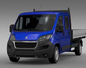 3D Peugeot Boxer Crew Cab Truck 2017