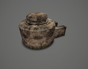 3D model low-poly WW II OldBunker