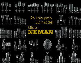 3D Glass NEMAN collection model
