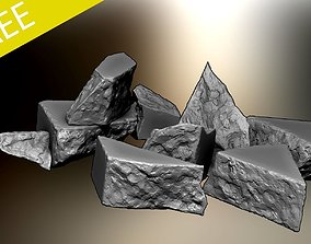 Free High Poly Destroyed Concrete Rubble 3D model