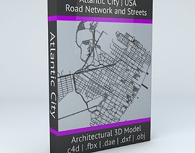 Atlantic City Road Network and Streets 3D