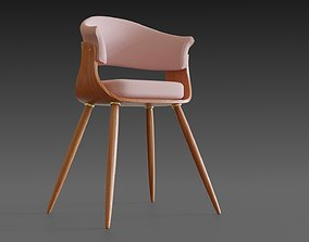 3D Wooden chair with a pillow